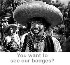 """El la filmo """"Trezoro de l' Sierra Madre"""":  banditoj"""