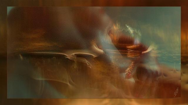 Une vague audacieuse ondoyante et féline sculpte le vent disert de ses doigts fuselés