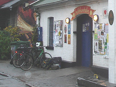 House bird toilet home  / Toilette et oiseaux - Christiania / Copenhague - Copenhagen.  26 octobre 2008