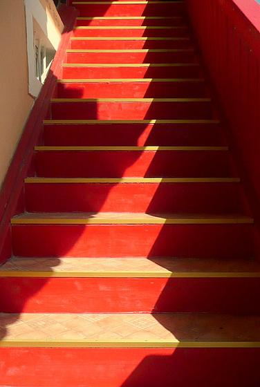 Rote Treppe in Ostrau bei Bad Schandau