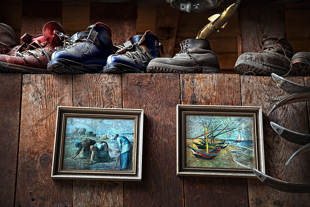 shoes and paintings