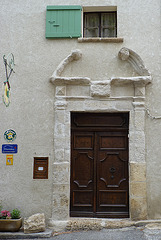 Porte de la maison d'hôte