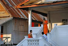 Monks housing in the Wat Phone Xai complex