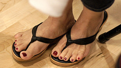 cousin's red toes