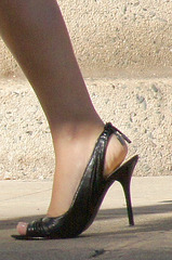 long distance high heel shot