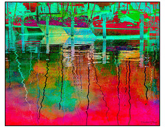 Sails in a Red Sea French Kiss Giverny Reflections Texture