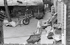 Clutter in a rural courtyard