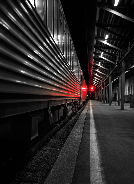 red light for the night train