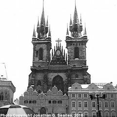 Tynsky Chram in the Snow, Prague, CZ, 2010