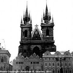 Tynsky Chram in the Snow, Picture 2, Prague, CZ, 2010