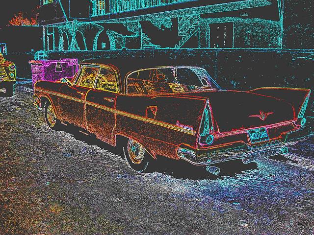 Varadero, CUBA. février 2010 -  Contours de couleurs en négatif