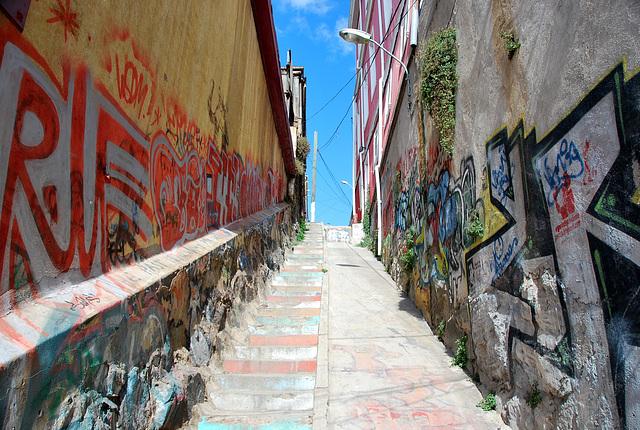 Valparaiso steps