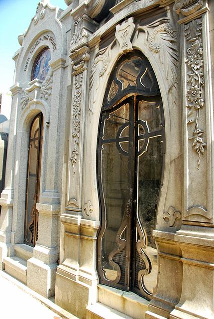 Art Nouveau tomb door