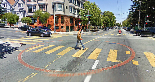 Google Streetview at 14th & Castro with Fire Department Cistern