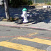 Green-topped Hydrant at 14th & Castro for Fire Department Cistern
