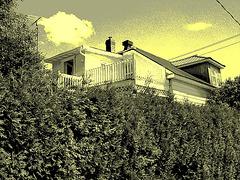 2 ième étage électrique /  Electric second floor - Dans ma ville / Hometown.  8 juin 2010 -  Vintage postérisé