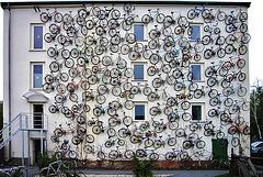 Fahrräder über drei Etagen ...