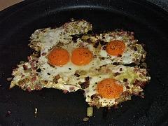 ham & eggs gespiegelt ;-)