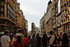 Madrid . Gran Via 100 aniversario