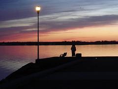Coucher de soleil / Sunset - Ville de Lery, Québec. CANADA.