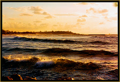 Waves in  Evening Light