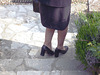 Madame Lucie en talons hauts / Lady Lucy in high heels - Maman de Gaëtane / Gaëtane's Mom - Version éclaircie