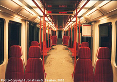 M1 Metro Train Interior, Picture 2, Prague, CZ, 2010