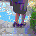 Madame Lucie en talons hauts / Lady Lucy in high heels - Maman de Gaëtane / Gaëtane's Mom - Postérisation