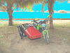 Photofiltration de moto cubaine avec side-car