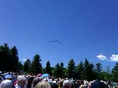 FLY OVER:  FOUR F-16's