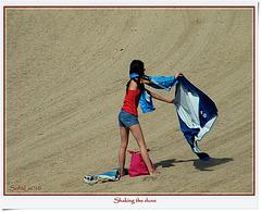 Shaking the dune
