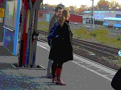 "Pony tail redhead Lady in SS boots /  Rouquine "" queuedechevallée "" en bottes SS - Ängelholm  / Suède - Sweden.  23-10-2008- Postérisation"