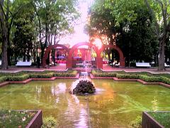 Pamplona: jardines de la Media Luna.