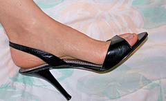 wife's nine west heels