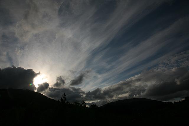 Evening clouds - Tyndrum