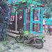 Moto téléphonique /  Phone motorcycle - Varadero, CUBA -   9 février 2010-  Inversion RVB avec bleu photofiltré