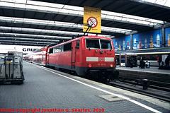 DB #111107-9 in Munchen Hbf, Munchen (Munich), Bayern, Germany, 2010
