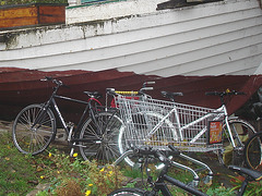 Épicerie - vélo -bateau / Grocery -bike -boat / Christiania - Copenhagen / Copenhague.  26 octobre 2008