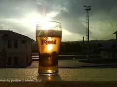 Kozel Beer Glass, Cercany, Bohemia (CZ), 2010