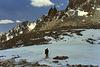 Crossing a crusty snow field