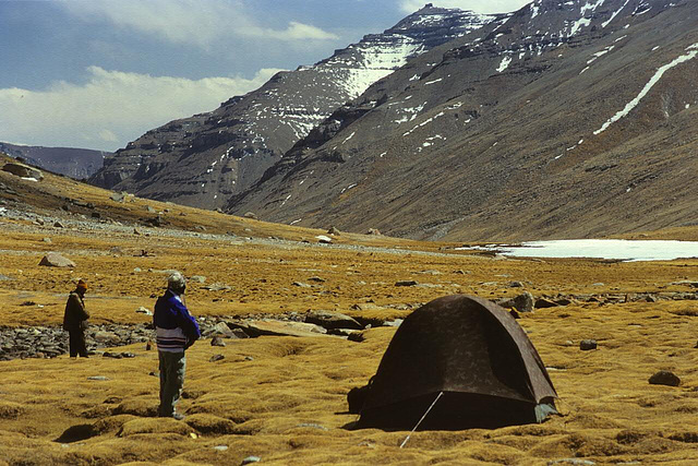 Overnight camp in the Lhachu valley