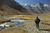 Our Sherpa beside the Lhachu river