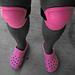 Pink Croc Knee Pads (6000A)