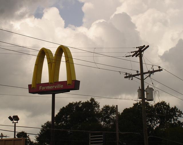 Mc Donald electroshock therapy / Électrochoc Mc Donaldien -- Farmerville, Louisiane. USA - 07-07-2010