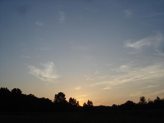 Coucher de soleil / Sunset - Pocomoke, Maryland. USA - 18 juillet 2010 - Original picture.