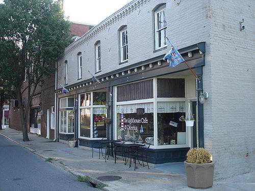 The lighthouse cafe & catering / Pocomoke, Maryland. USA - 18 juillet 2010.