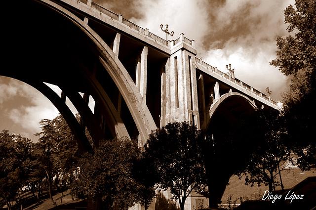 Madrid. Viaducto de la calle Bailén
