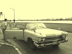 Cadillac taxi / Varadero, CUBA - 3 février 2010 / Vintage version / Photo ancienne