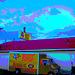 Boot outlet truck / Camion bien botté - Hillsboro, Texas. USA - 28 juin 2010- Postérisation ravivée