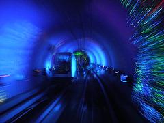 Tunel de tren en Shangai